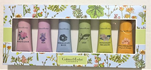 Crabtree & Evelyn Hand Therapy Set, 6 x 25gr, in Pink or Blue Gift Box (Evelyn Gift Sets)