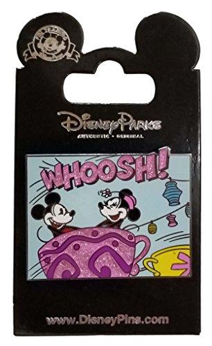 Disney Pin - Whoosh - Tea Cups - Mickey and Minnie ()