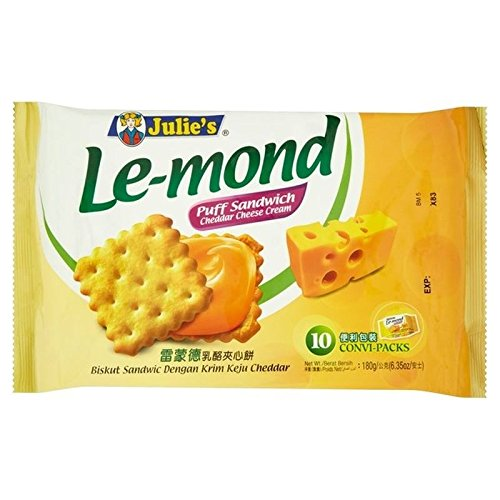 Julie's Le-mond Cheddar Cheese 180g (Best Biscuits Cheese)