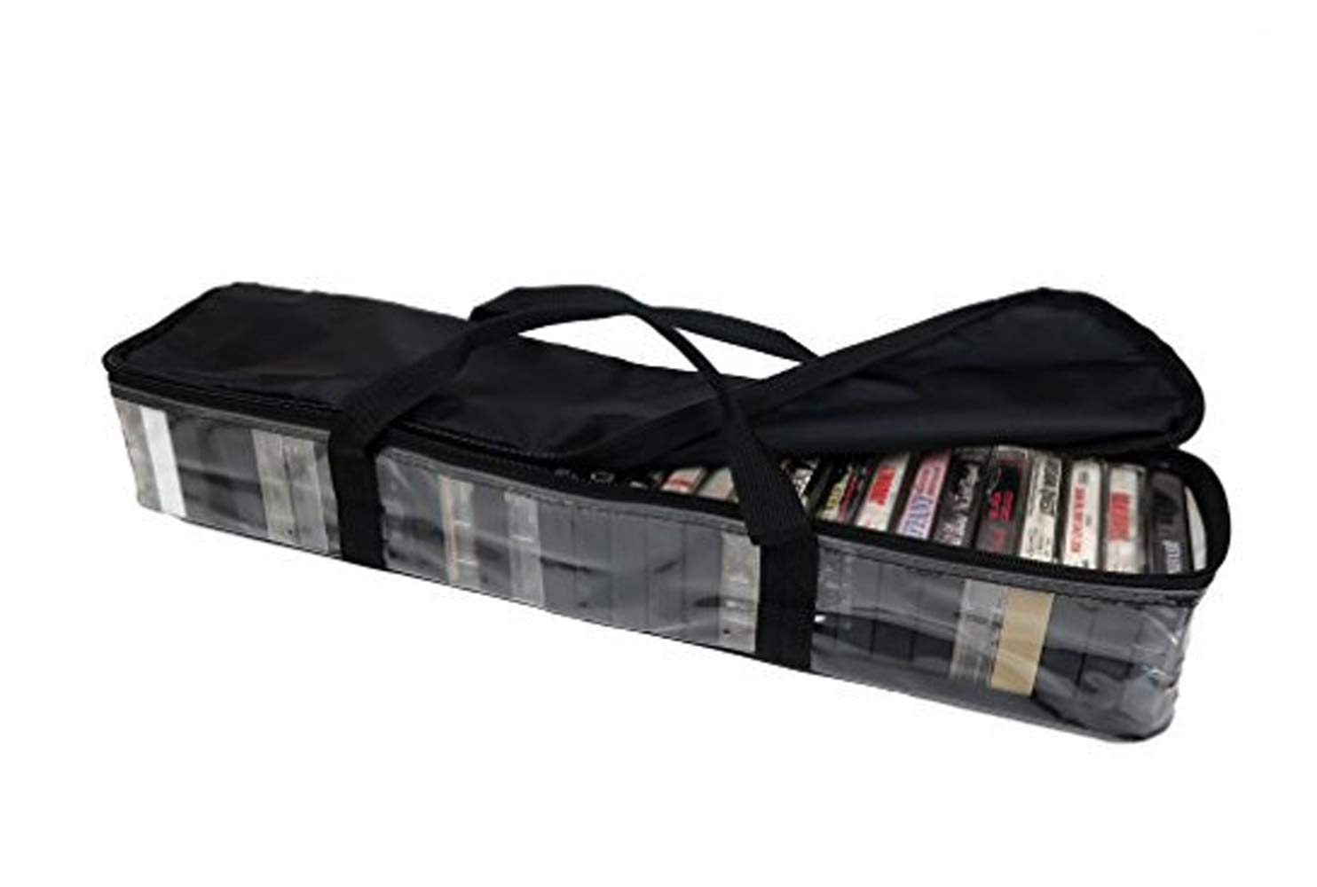 Imperius Cassette Tape Bag-Organizer-Carrier-Storage-Dust,Moisture Free-Hold 30 Set of 2