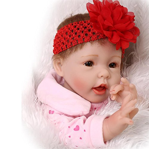 [Reborn Baby Doll Soft Silicone Pink Heart Clothes 22-Inch Fan Moon] (Doll On A Music Box Costume)