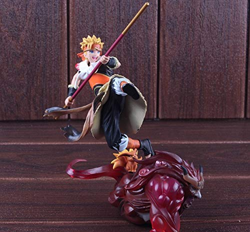 Allegro Huyer Naruto Action Figure Naruto Uzumaki Cosplay The Monkey King with Kurama Kyuubi Doll PVC Collectible Model Toy ()