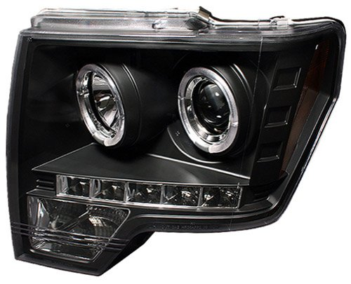 Ford F150 / F250 LD 2009 2010 Head Lamps, Projector W/ Rings Black-1 pair