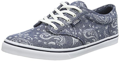 Vans Women's Atwood Low-Top Sneakers, Blue (Flocked Bandana Navy), 3.5 UK ()