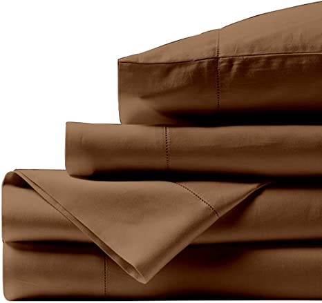6 Piece Bed Sheet Sets 100/% Egyptian Cotton 800 Tc Taupe Queen//King Size Sheets