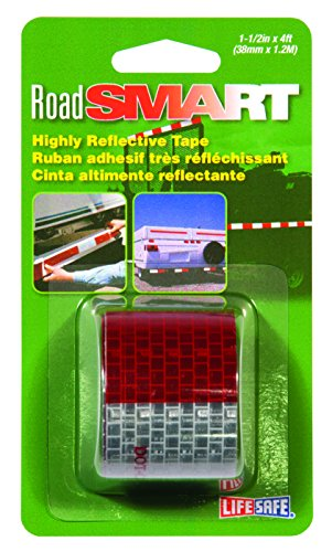 Incom RE800 1-1/2-In. x 4-Ft. Reflective Tape, Red/Silver