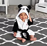 Baby Aspen Pamper Me Panda Hooded Spa Robe, Black/White/Multi, 0-9 Months