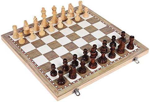 Sweet48 Juego de ajedrez 3 en 1, Tablero de ajedrez y Caja de ...