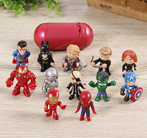 Character Figurine (Astra Gourmet Anime Figures, Mini Action Figures, 12 Pack Hero Series Set Figures with Organizer, PVC Figure Doll Popular Classic Characters Figures Ages 3 and up)