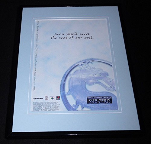 Mortal Kombat Sub Zero 1997 Playstation Framed 11x14 ORIGINAL Advertisement by The Steel City Auctions Gallery