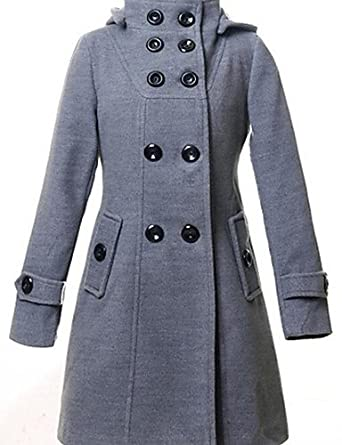 4c5ed646ba4 ELECTROPRIME Women s Plus Size Simple Trench Coat