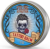 Viking Revolution Vegan Tattoo Care Balm for Before, During & Post Tattoo – Safe, Natural Tattoo Aftercare Cream – Moisturizing Lotion to Promote Skin Healing – Tattoo Brightening Treatment