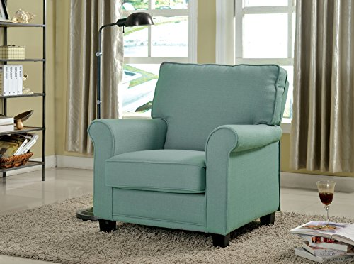 Furniture of America Bettie Transitional Upholstered Accent Chair, Blue