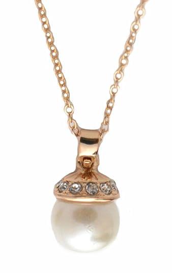 14a63fc1e09d1 Small Island Gold Plated Cute Little Acorn Design Pearl Short ...