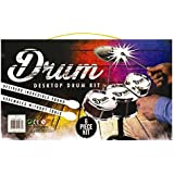 Invero® Fun Office Toy Mini Desktop Drum Kit Set ideal for Christmas Xmas Birthday Gift Present