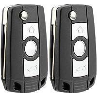 KeylessOption Keyless Entry Remote Control Car Ignition Flip Key Fob Replacement for LX8 FZV LX8FZV (Pack of 2)