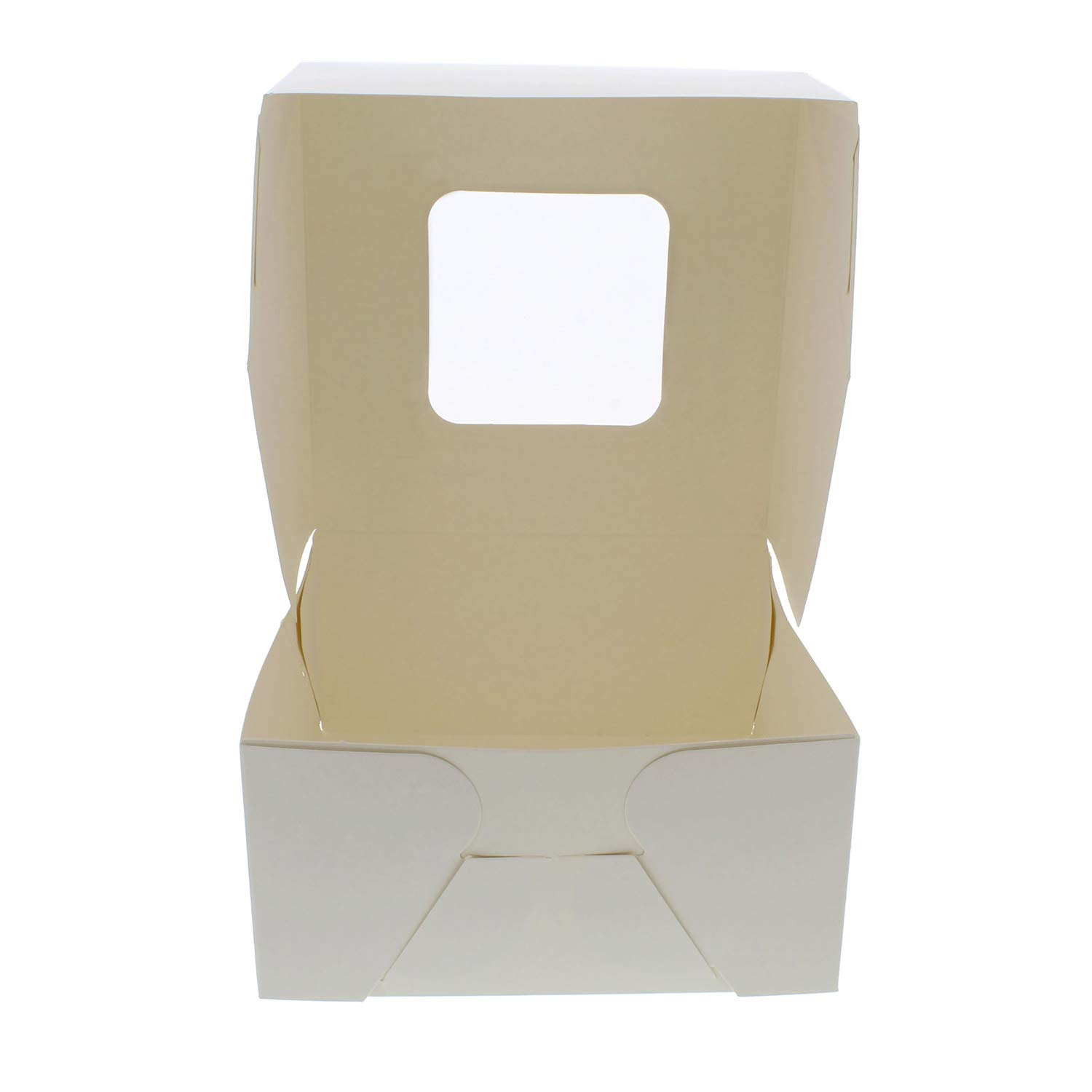 SpecialT White Bakery Boxes with Window, 200pk - 6'' x 6'' Inch Cake Boxes, Party Favor Boxes, Candy Boxes, Dessert Boxes by SpecialT (Image #4)