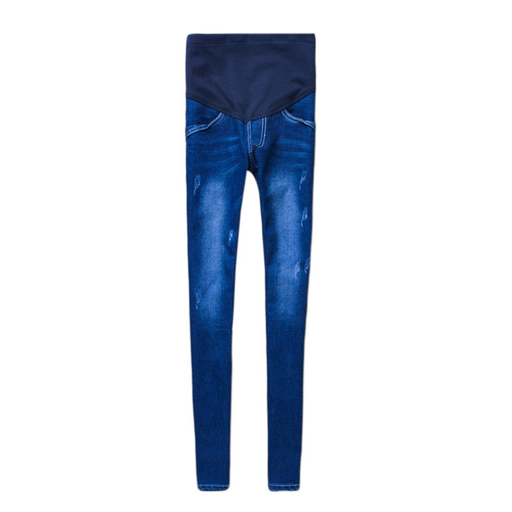 Guguogo Pregnant Women Stretchy Cotton Jeans Denim Pencil Pants Maternity Trousers gugutogo