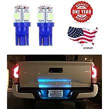LED Monster 2pcs Ice Blue T10 194 168 Wedge 5-5050-SMD LED License Plate Light Lamp Bulb 12V