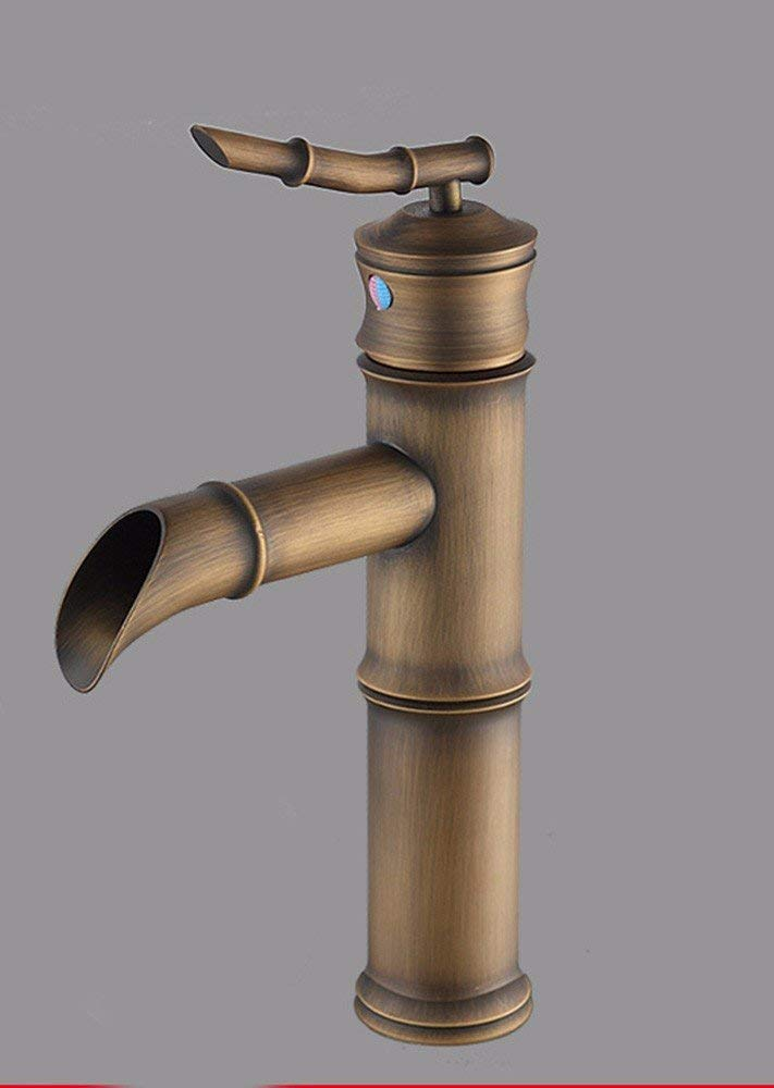 Oudan ?European style retro style copper hot and cold Single Hole ceramic water tap