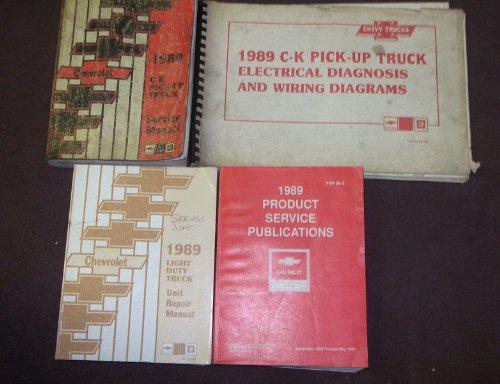 (1989 CHEVY CK C/K C K TRUCKS TRUCK Service Shop Repair Manual Set FACTORY (service manual,electrical diagnosis and diagrams manual,light duty truck unit repair manual,and the product service publications manual.))