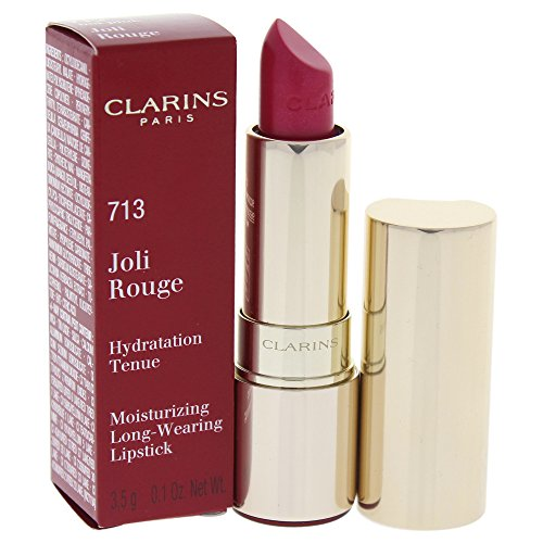 Ounce Pink 0.12 Rouge (Clarins Joli Rouge (Long Wearing Moisturizing Lipstick), 713 Hot Pink, 0.12 Ounce)