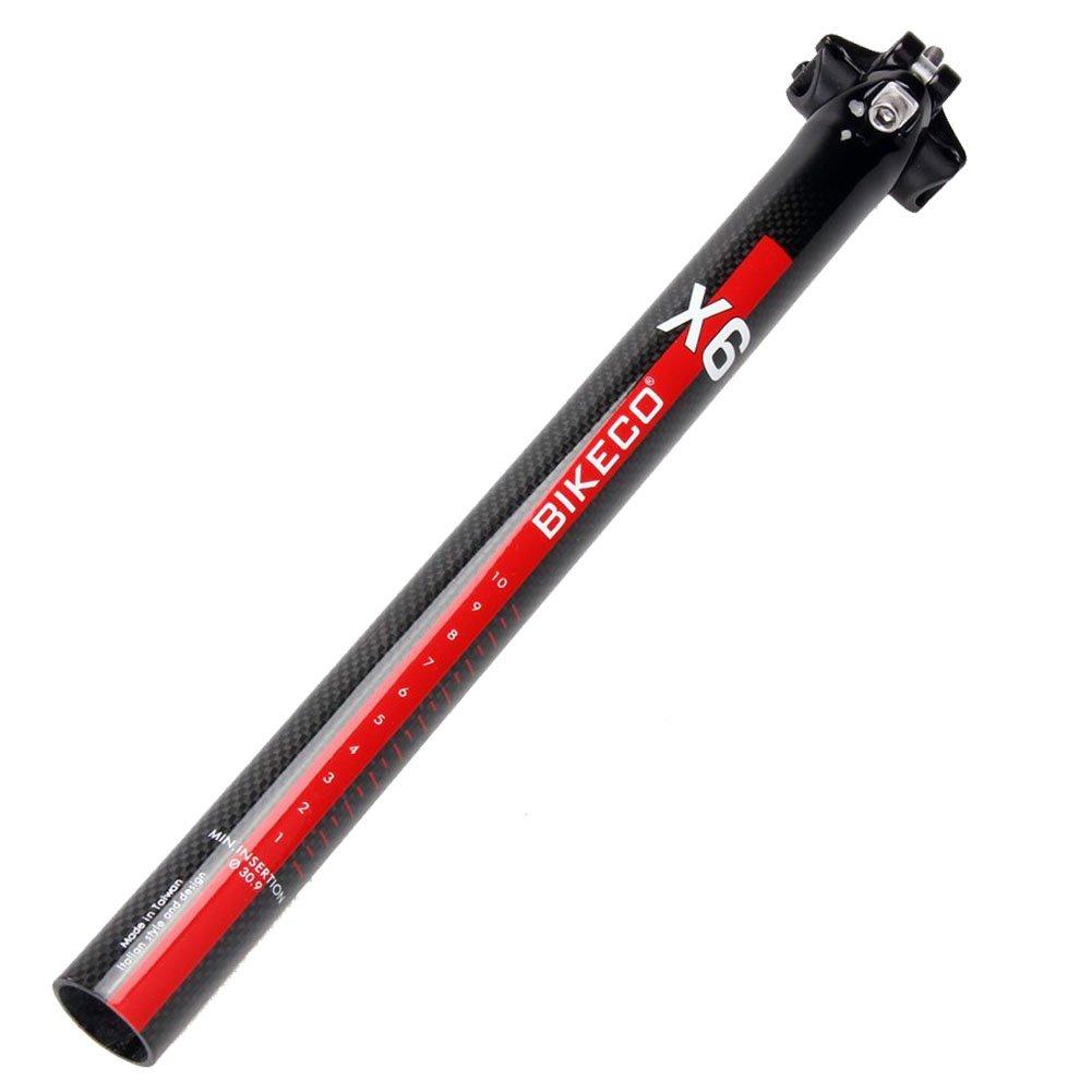 BIKECO Tige de selle de v/élo en fibre de carbone BMX /Ø27,2//30,9//31,6/x 350/mm haute performance en Carbone 3/K sur route et en montagne pour VTT ultra-l/éger