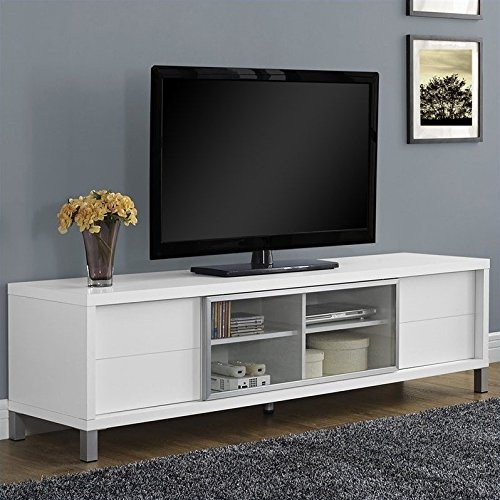 Contemporary Style Tv (Monarch Specialties I 2537, TV Console, Euro Style, White, 70