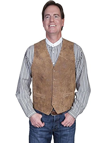 Scully Men's Lamb Leather Western Vest Maple 46 R ()