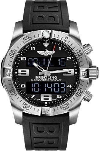 (Breitling Exospace B55 Titanium Watch on Black Rubber Strap)