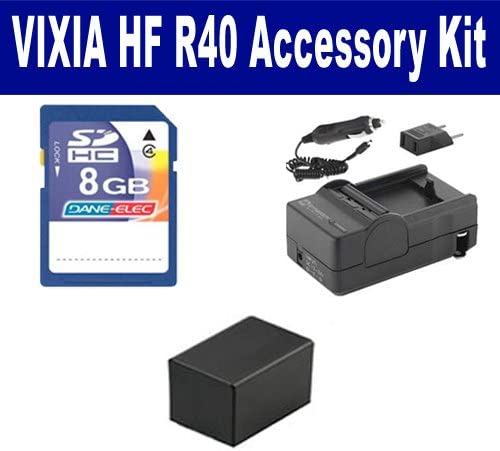 KSD48GB Memory Card Canon VIXIA HF R40 Camcorder Accessory Kit includes SDBP718 Battery SDM-1556 Charger