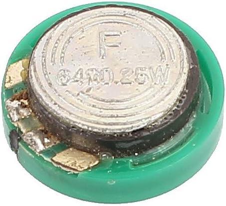 uxcell 27mm Dia 32 Ohm 0.25W External Magnet Speaker Horn Loudspeaker Green