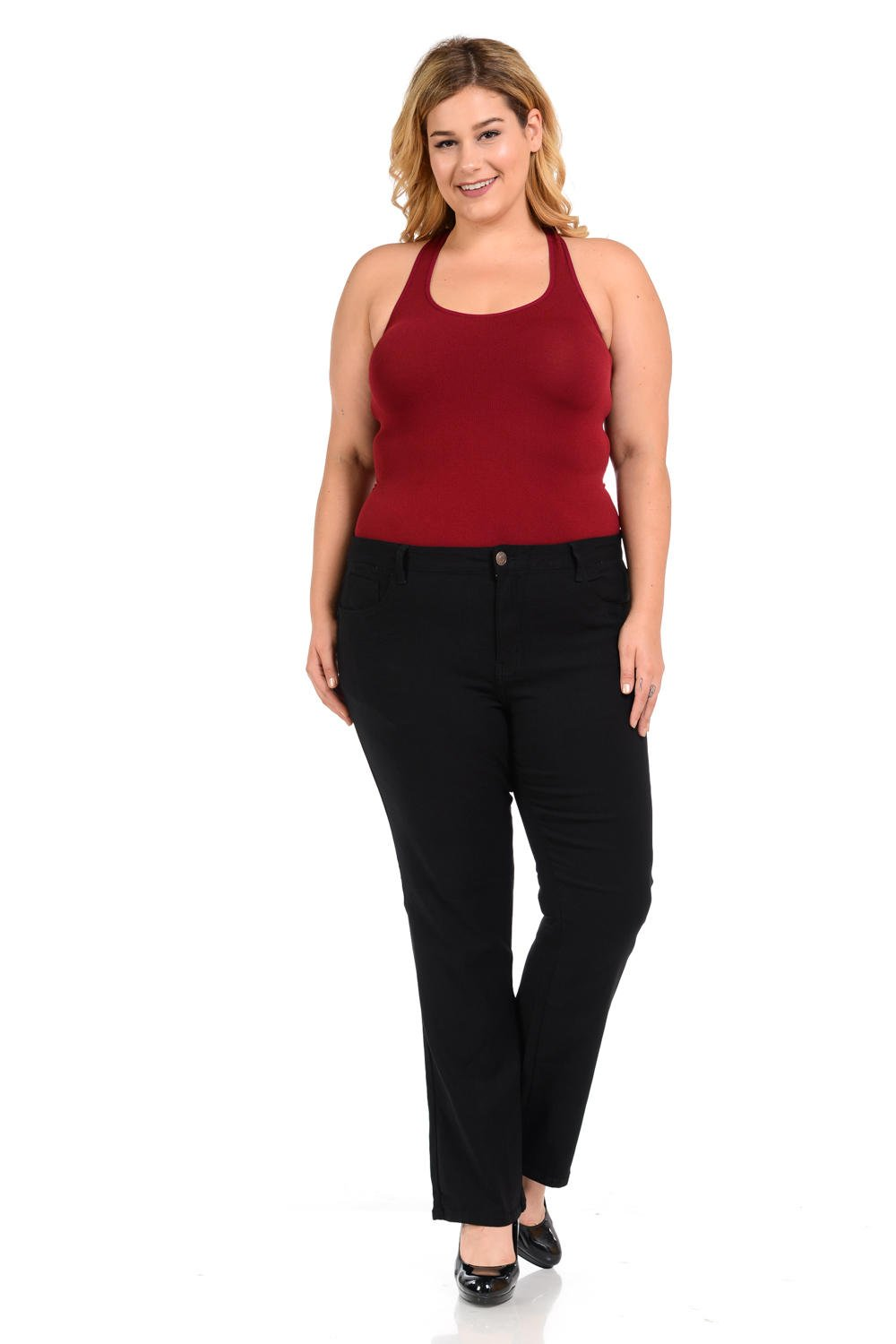 926 Women's Jeans - Plus Size - High Waist - Push up - Bootcut - Style W1506-1 926-PBB-W1506-1