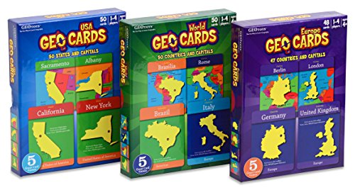 GeoCards Educational Card Games Geotoys
