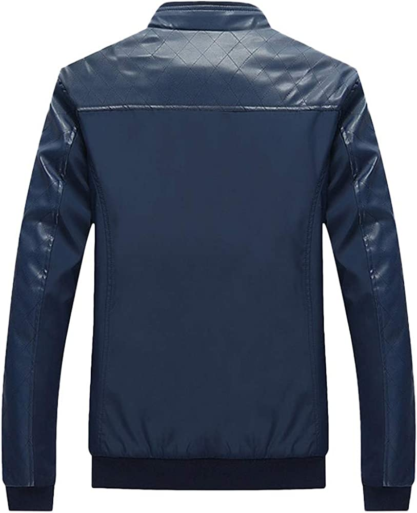 TAGGMY Jackets for Men Winter Warm Fashion Plus Size Overcoat Casual Pocket Zipper Thermal Leather Top Coat Outwear