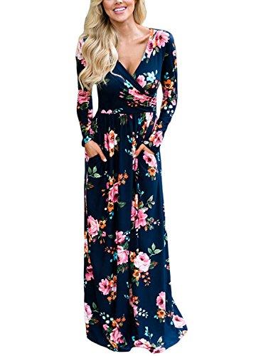 long sleeve a line maxi dress - 3