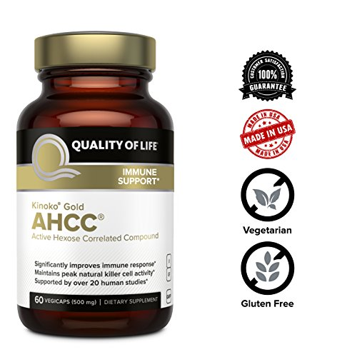 Premium Kinoko Gold AHCC Supplement–500mg of AHCC per Capsule–Supports Immune Health, Liver Function, Maintains Natural Killer Cell Activity & Enhances Cytokine Production–60 Veggie Capsules by Quality of Life (Image #5)