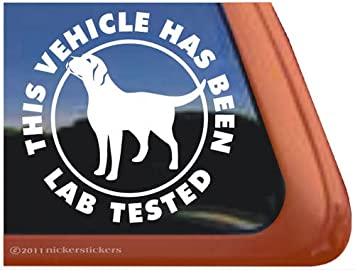 Amazoncom This Vehicle Has Been Lab Tested Vinyl Window Decal - Window decals amazon