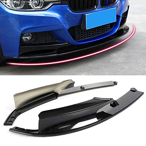 - Newsmarts Carbon Fiber Style Front Bumper Lip 2pcs Spoiler Splitter Cover For BMW F30 3 Series M Style 2012-2018, Carbon Fiber