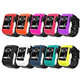 MoKo Case for Garmin Vivoactive HR Watch, [10 PACK] Soft Silicone Full Body Protective Cover Accessories for Garmin vivoactive HR Smart Watch, Multi Colors (10PCS)