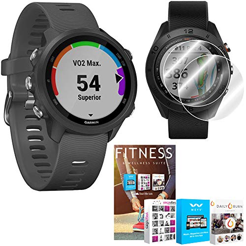 Garmin Forerunner 245 GPS Sport Watch (Slate) with Home Fitness Suite Bundle