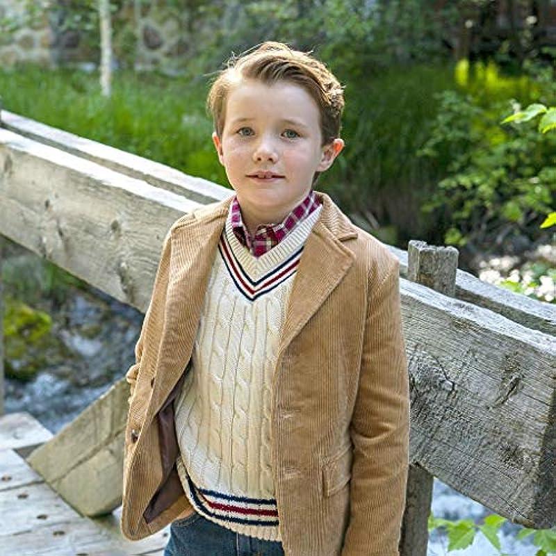 Hope & Henry Cricket-Pullover für Jungen, langärmelig, V-Ausschnitt: Odzież