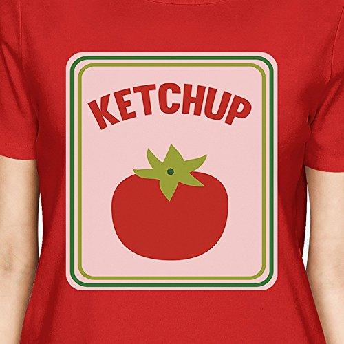 manga Camiseta para de mujer Talla corta Ketchup 365 Printing wZxqtt