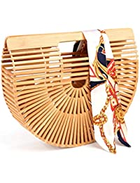 Women's Bamboo Handbag Handmade Tote Beach Bag