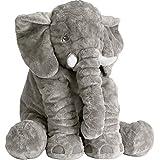 Tuko Stuffed Animal Elephant Stuffed Animal,Large Stuffed Animals 24 Inches/Grey (Color: 24#)