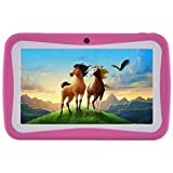 Kids Tablet PC, 7'' HD Eyes-Protection Screen Android 7.1 1GB RAM 8GB ROM Tablet with WIFI Kids Software Pre-Installed (Pink)