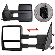 Scitoo Fit 2004-2006 Ford F150 Truck Driver/Passenger Side Mirror Power Heated Turn Signal Puddle Light Towing Mirrors Pair