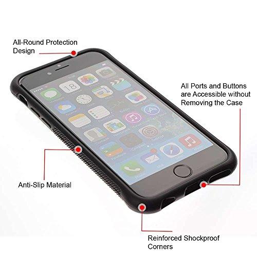 TopCaseStore / caoutchouc Hard Case Housse de protection la Peau - African Cheetah Big Cat - Apple iPhone 6