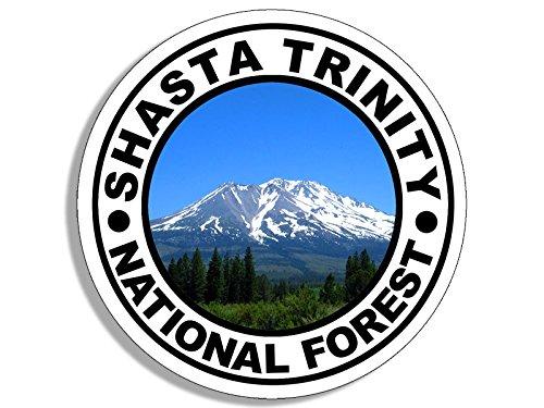 American Vinyl Round Shasta Trinity National Forest Sticker (Travel rv Oregon Hike)