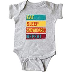 Eat sleep snowboard quote in vintage colors for a snowboarder or fan of snowboarding competitions